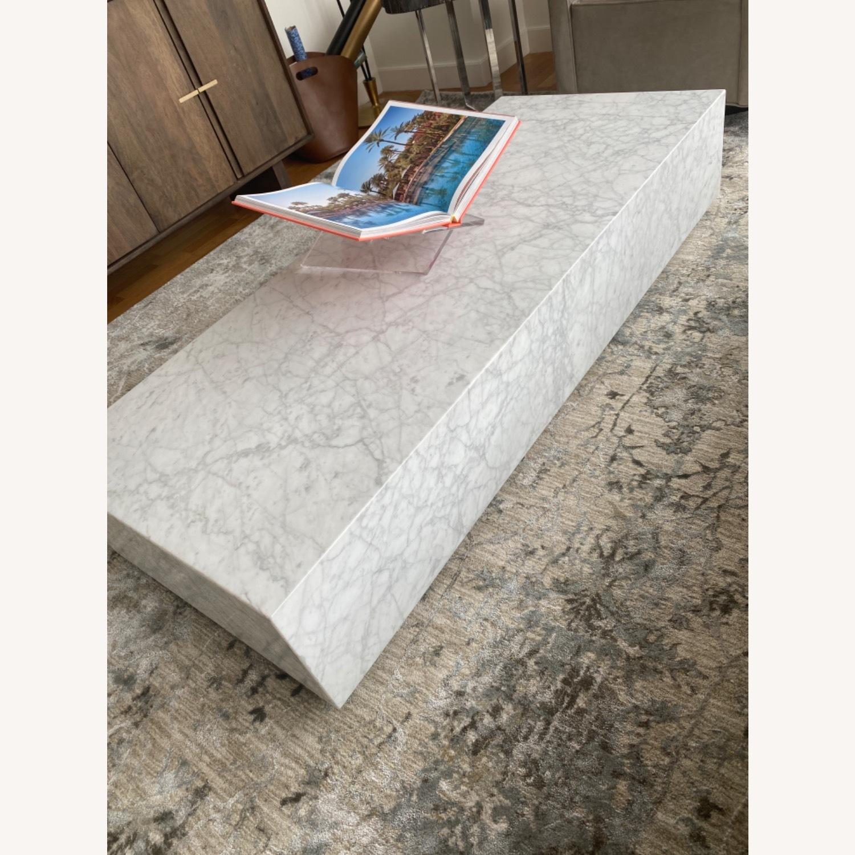 Restoration Hardware Marble Coffee Table - image-2