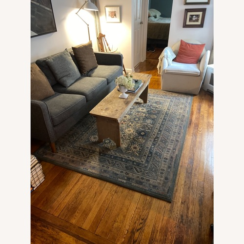 Used Blue/Gray Patterned Area Rug for sale on AptDeco