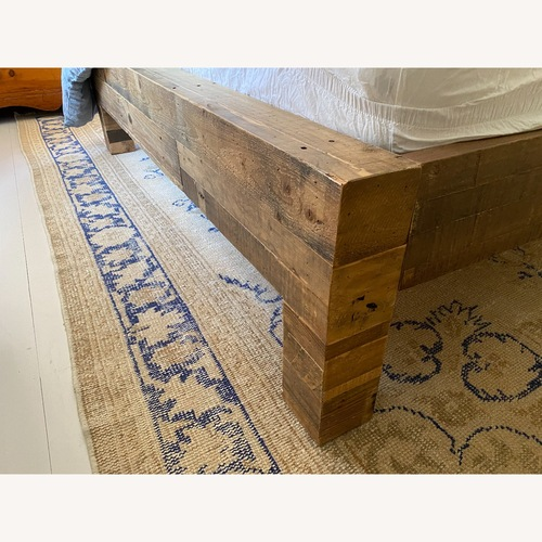 Used West Elm Queen Emmerson Reclaimed Wood Bed for sale on AptDeco