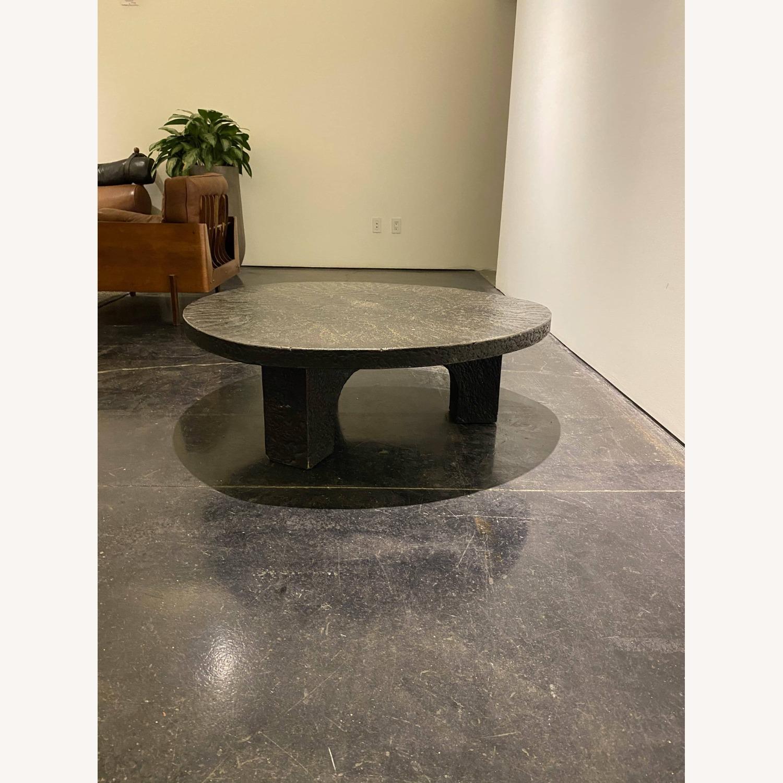 Vintage Coffee Table Black Stone - image-1