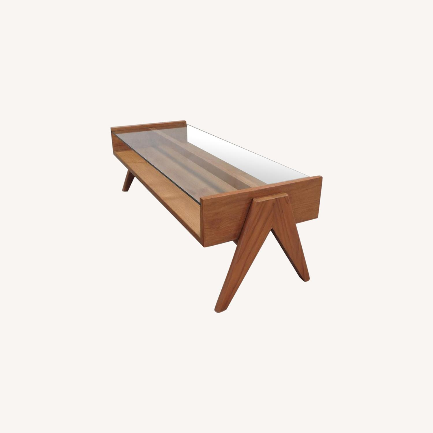 Coffee Table from Pierre Jeanneret Reproduction - image-0