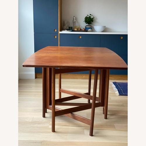 Used Antique Teak Gate Leg Dining Room or Kitchen Table for sale on AptDeco