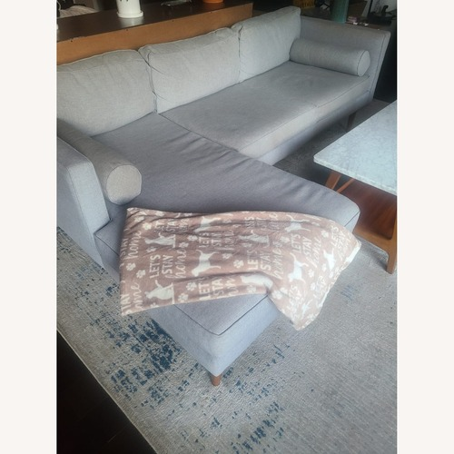 Used West Elm Mid Century Sectional With Chaise for sale on AptDeco