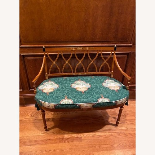 Used Classic Wood Bench with Painted Wood for sale on AptDeco