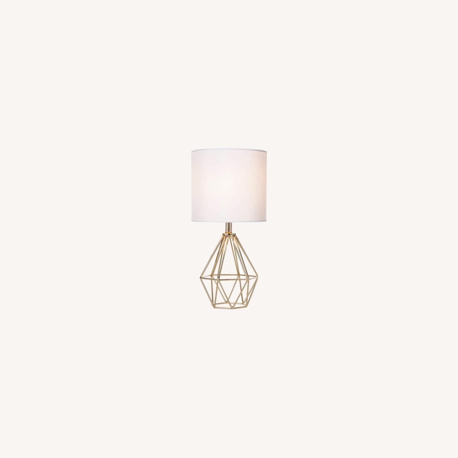 Modern Chic Desk Table Lamp with Gold Metal Base - image-0