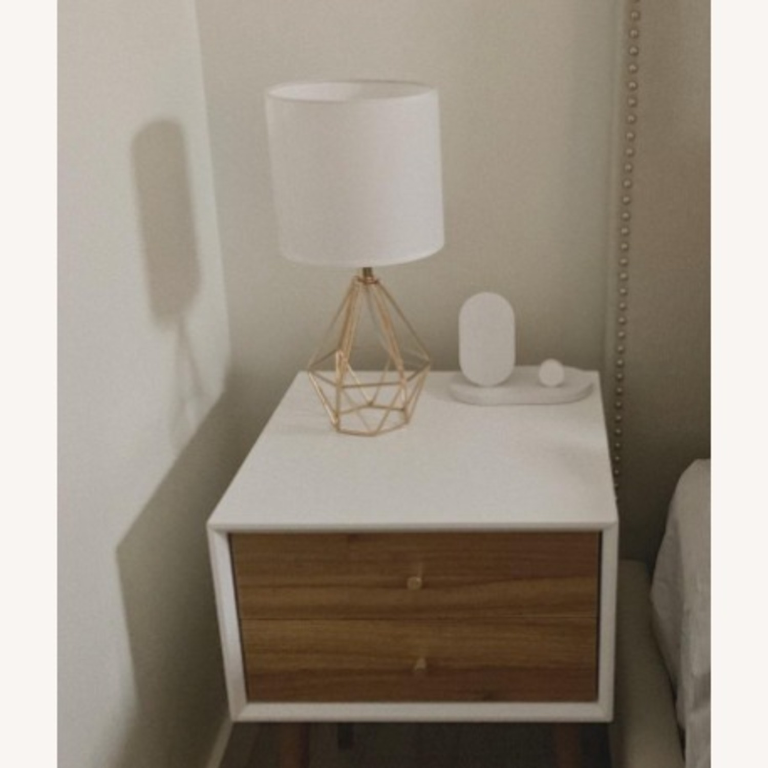 Modern Chic Desk Table Lamp with Gold Metal Base - image-2