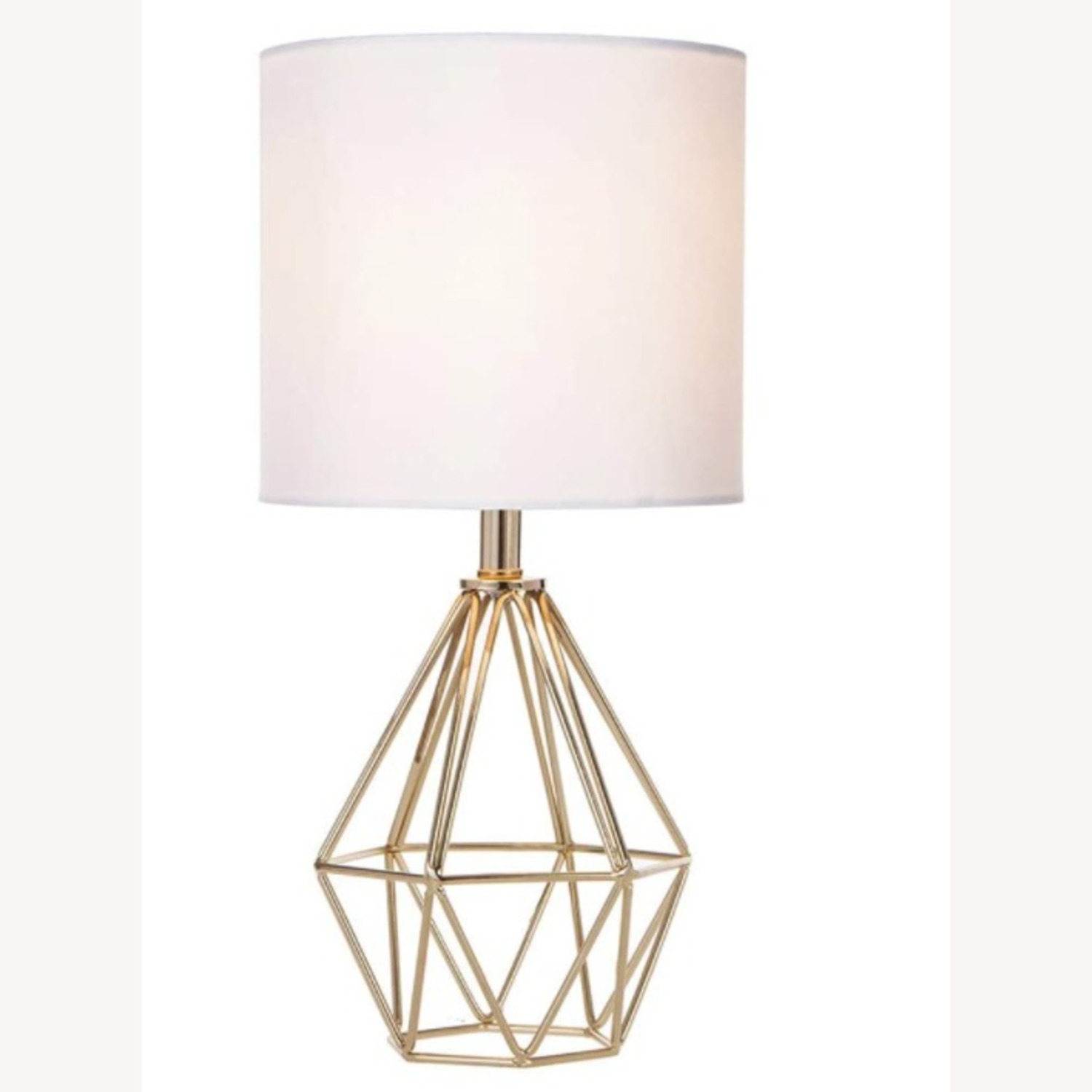 Modern Chic Desk Table Lamp with Gold Metal Base - image-1