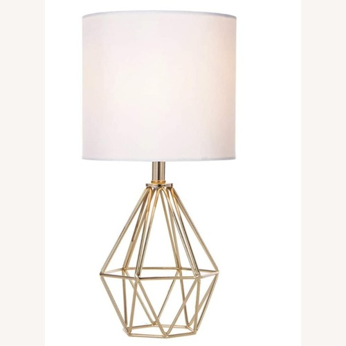 Used Modern Chic Desk Table Lamp with Gold Metal Base for sale on AptDeco