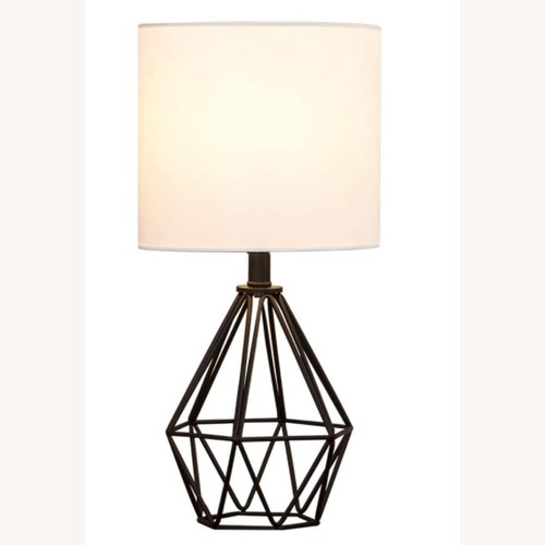Used Modern Chic Desk Table Lamp with Black Metal Base for sale on AptDeco