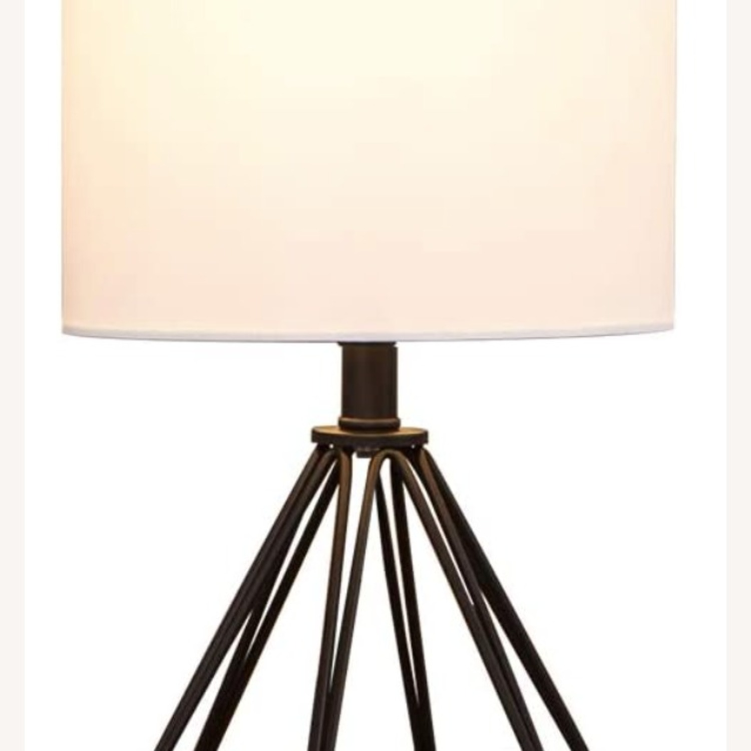 Modern Chic Desk Table Lamp with Black Metal Base - image-2