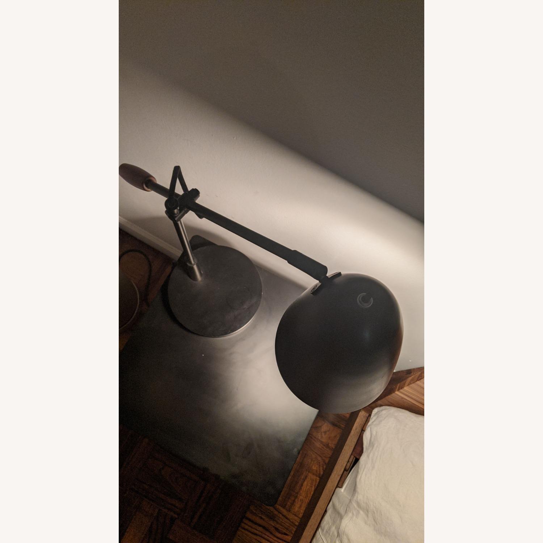 Crate & Barrel Morgan Black Metal Desk Lamp - image-2