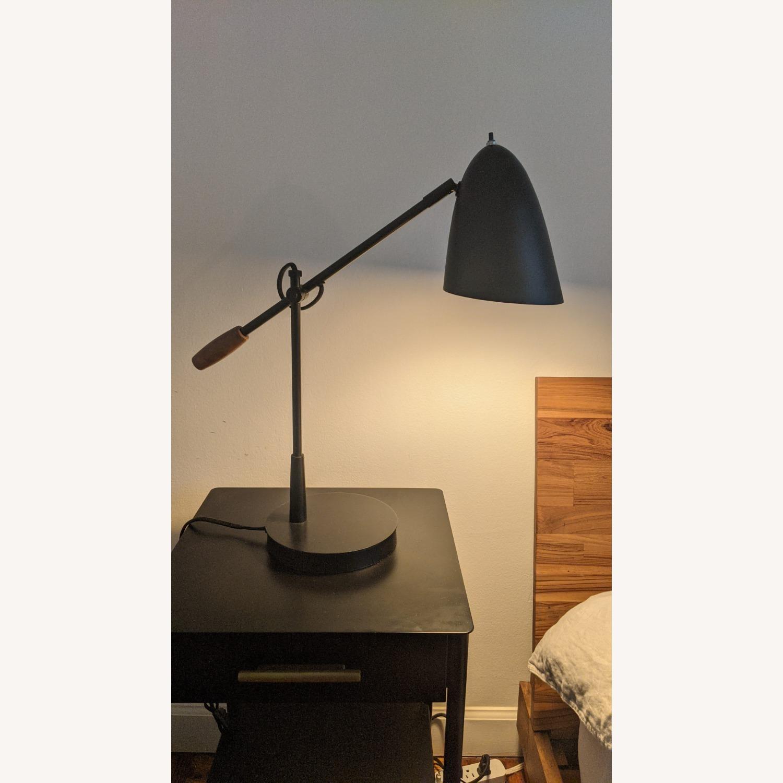 Crate & Barrel Morgan Black Metal Desk Lamp - image-3