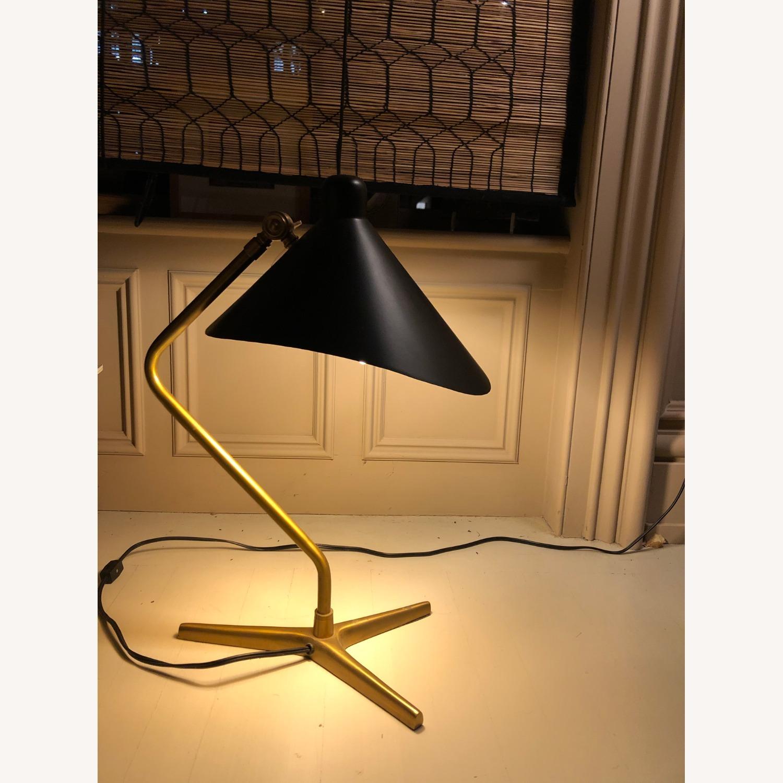 Antique Brass Tripod Lamp - image-2