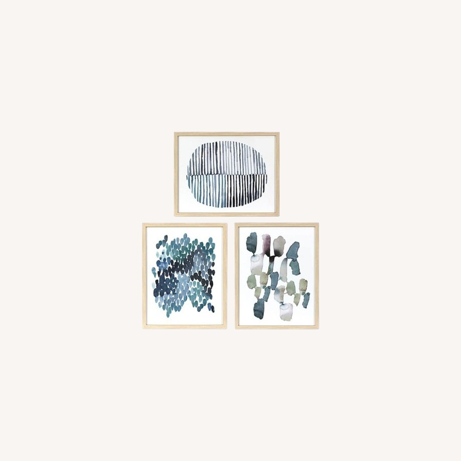 Target Framed Watercolor Blue Abstracts - image-0