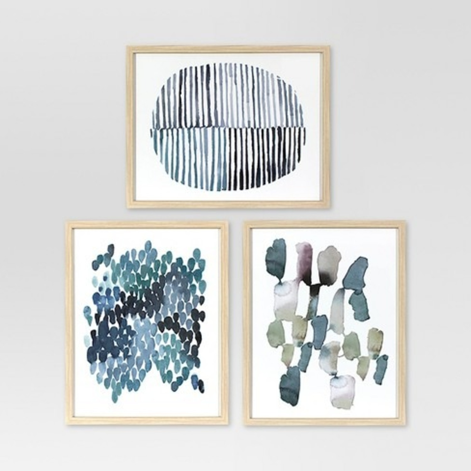 Target Framed Watercolor Blue Abstracts - image-2