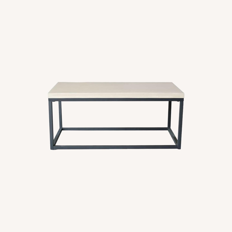 West Elm Slab Box Frame Coffee Table - image-0