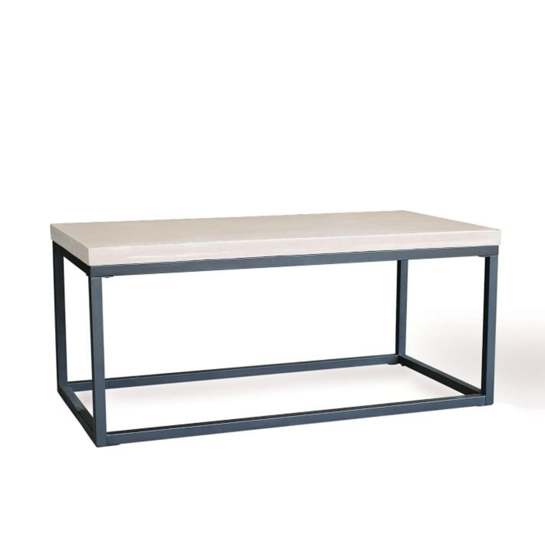 West Elm Slab Box Frame Coffee Table - image-1