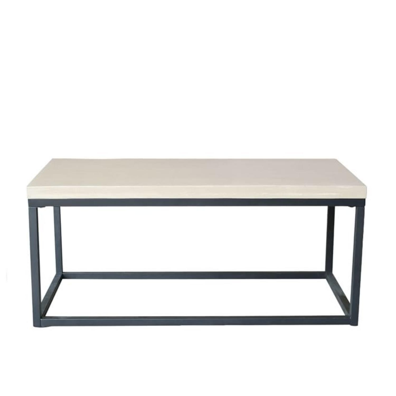 West Elm Slab Box Frame Coffee Table - image-2