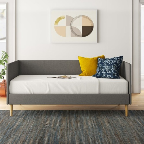 Used Gray Linen Mid-Century Daybed for sale on AptDeco