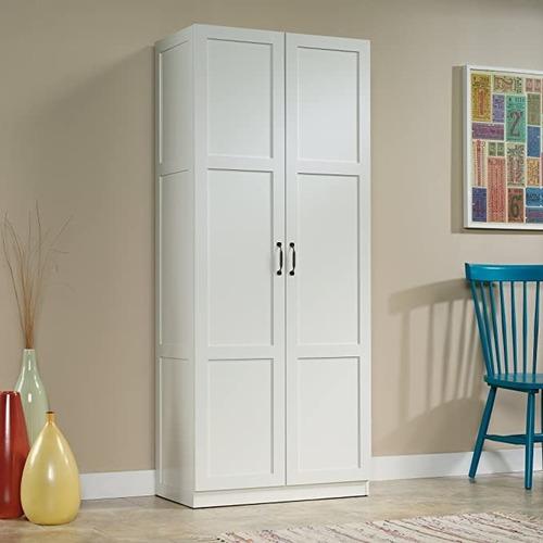 Used Sauder Storage Cabinet | Soft White Finish for sale on AptDeco
