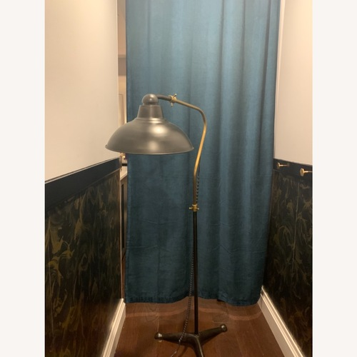 Used Pottery Barn Bronze Floor Lamp for sale on AptDeco