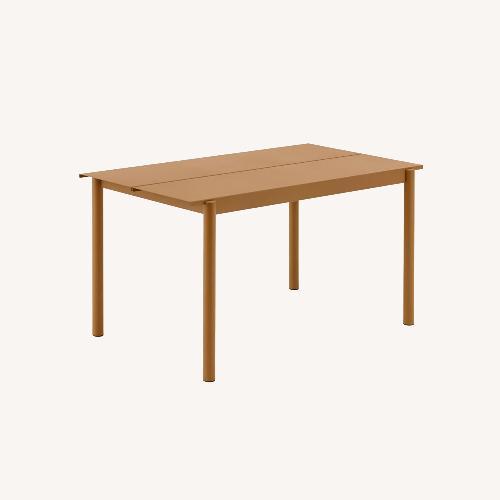 Used Muuto Linear Steel Dining Table - Burnt Orange for sale on AptDeco