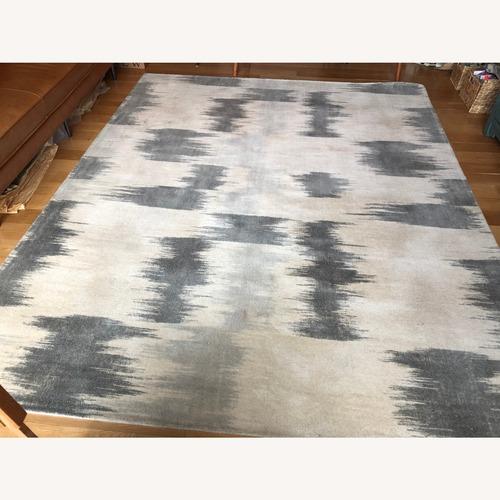 Used West Elm Painted Ikat Wool Rug 8x10 for sale on AptDeco