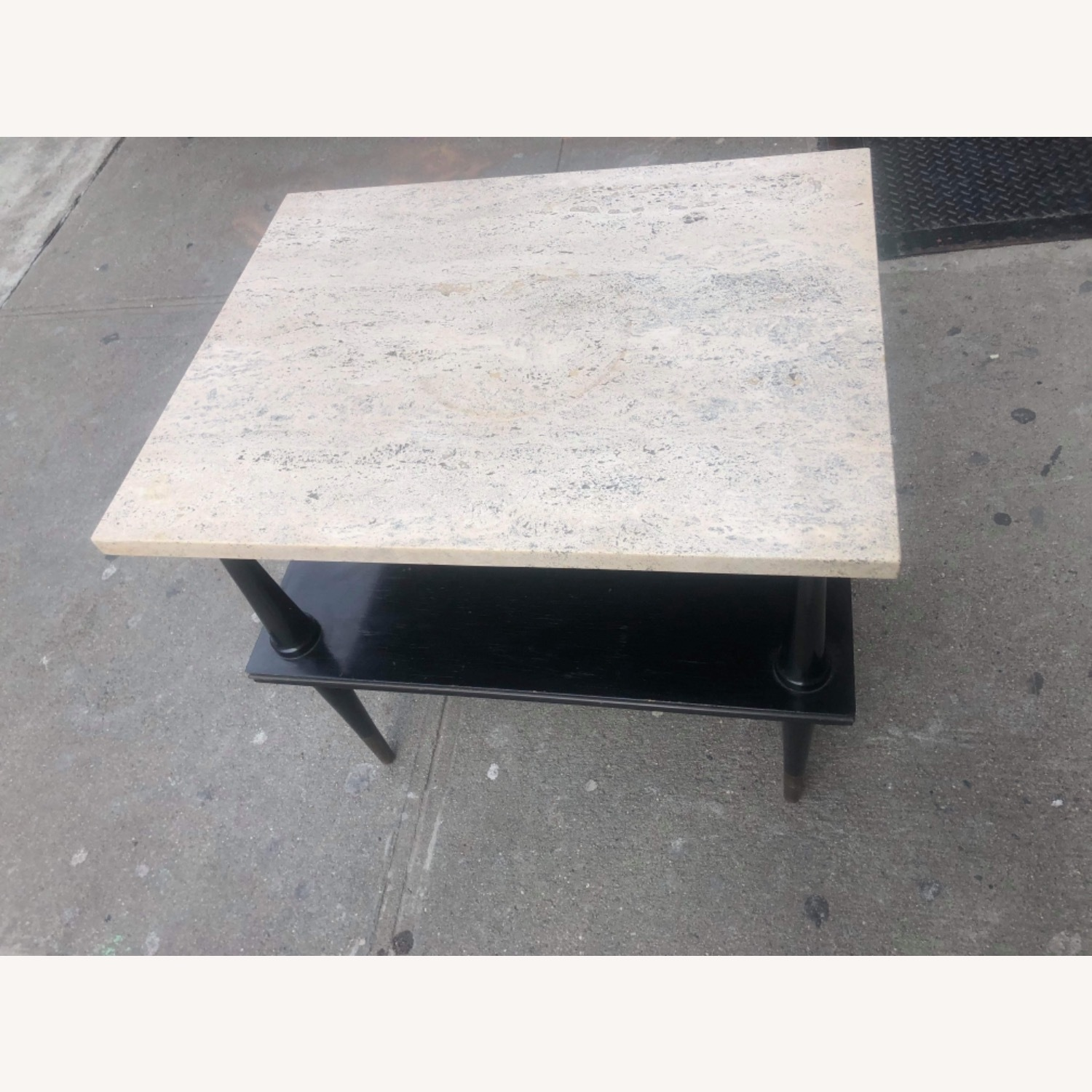 Mid Century 1950s Marble Top Coffee Table - image-3