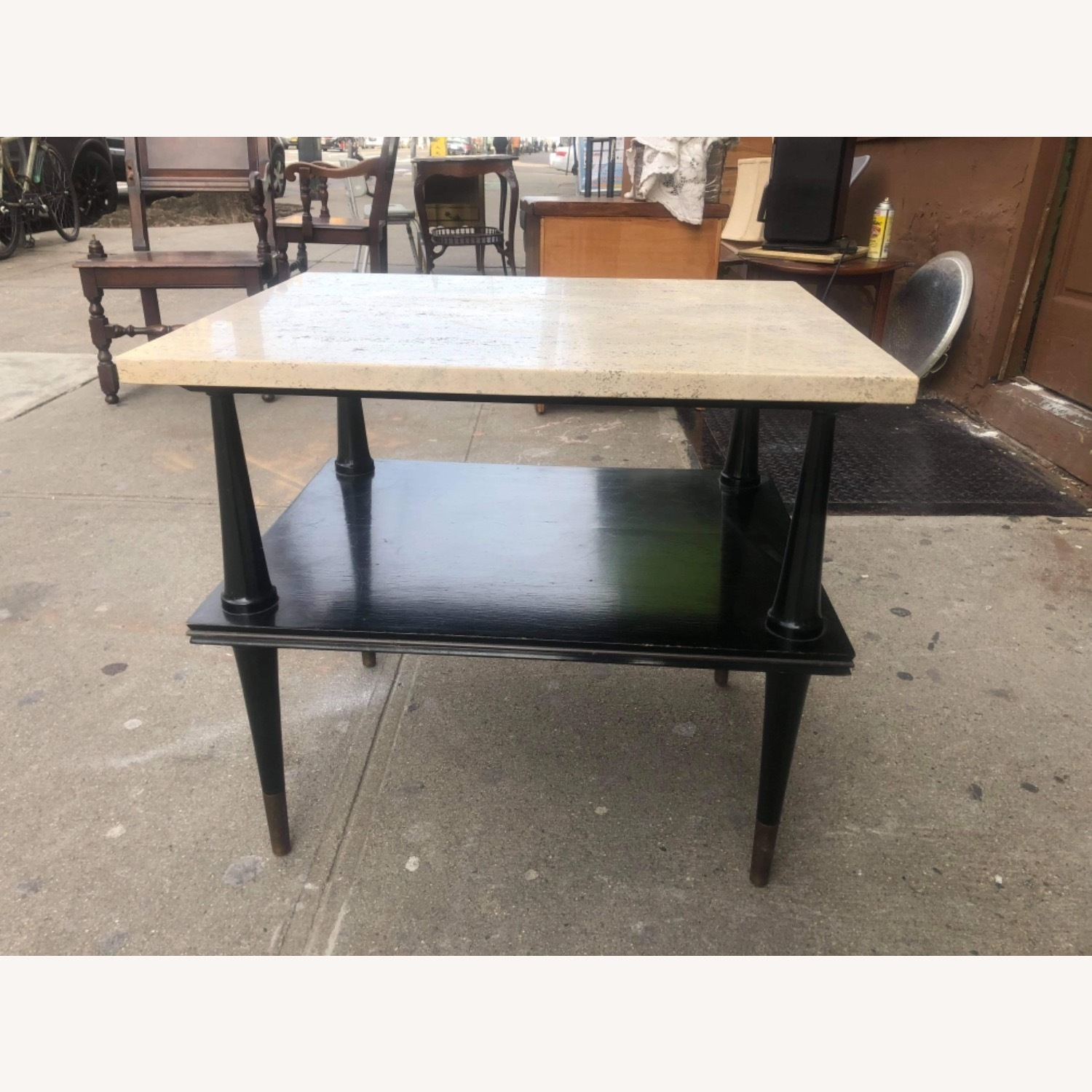 Mid Century 1950s Marble Top Coffee Table - image-1