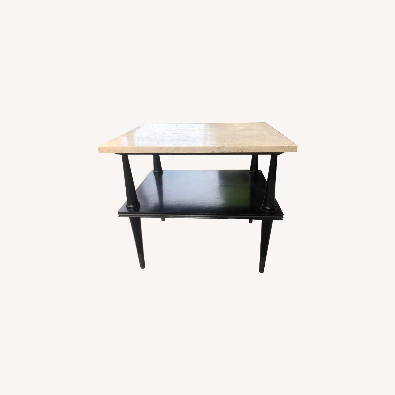 Mid Century 1950s Marble Top Coffee Table - image-0