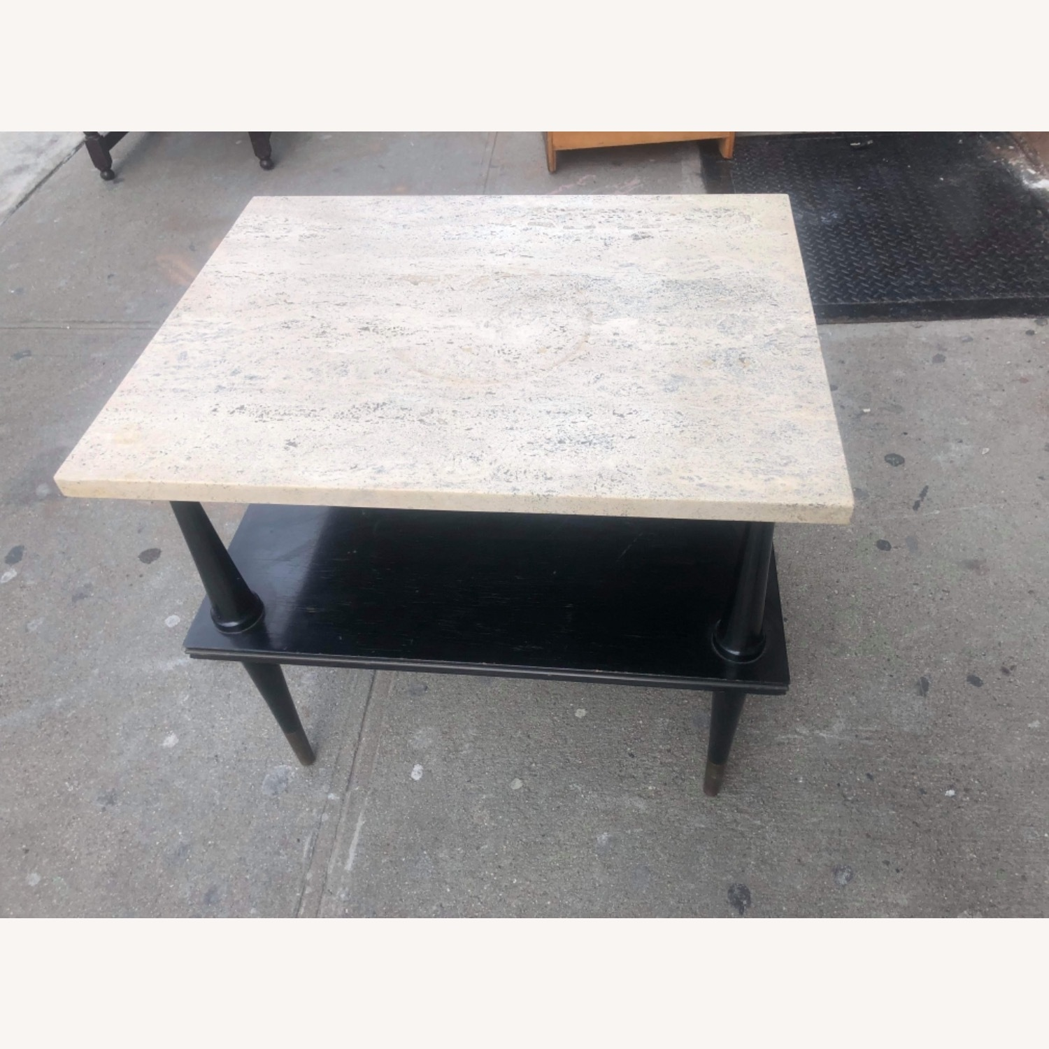Mid Century 1950s Marble Top Coffee Table - image-2