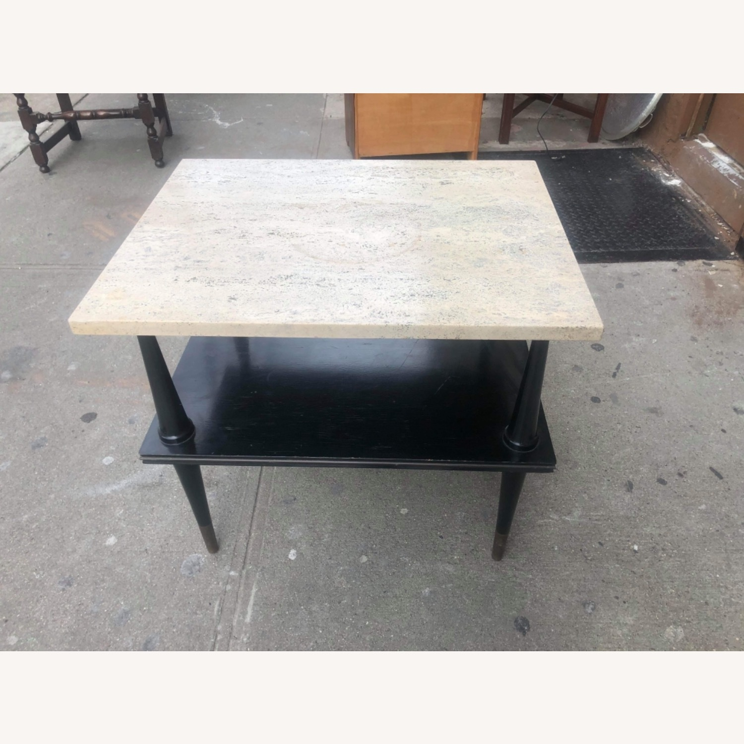 Mid Century 1950s Marble Top Coffee Table - image-10