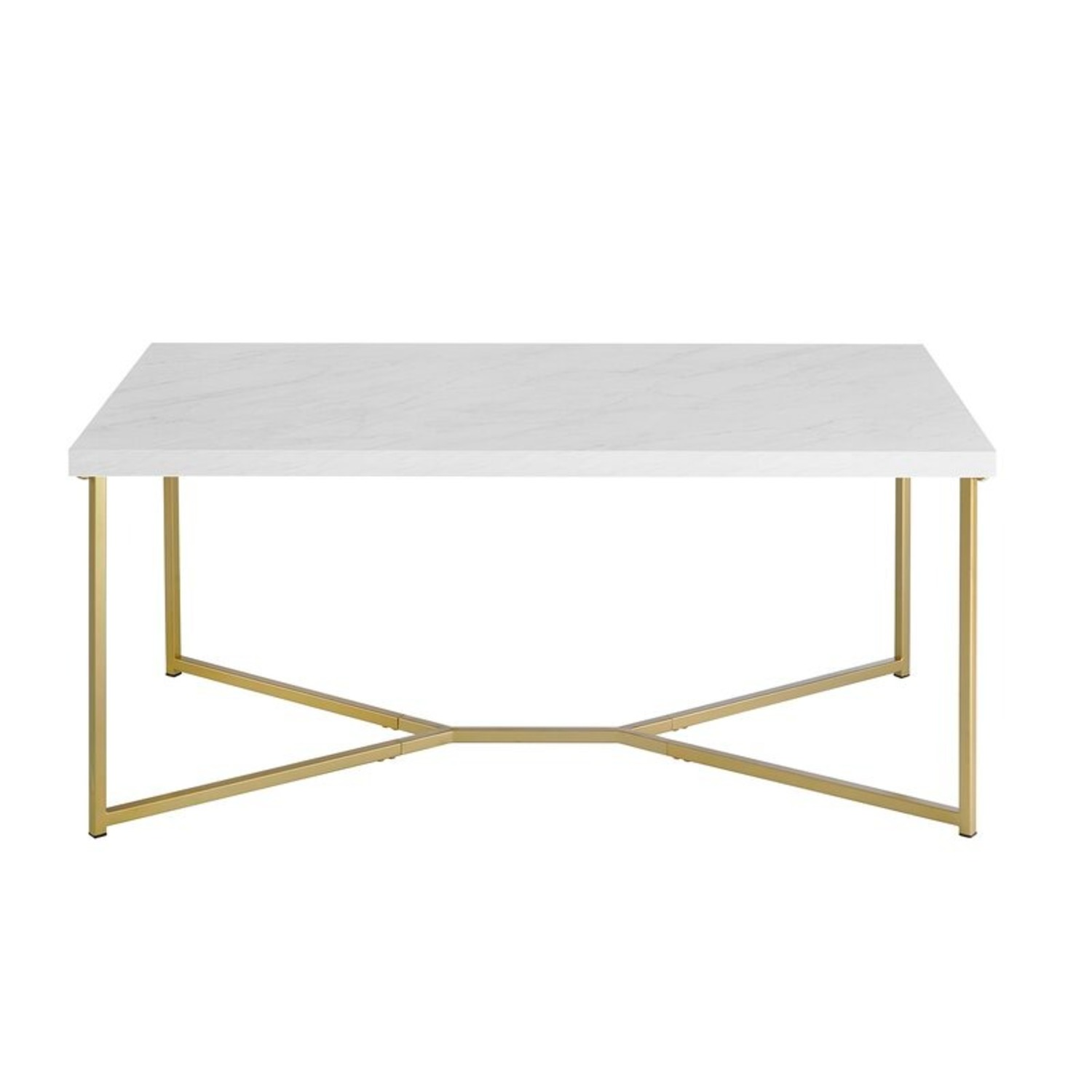 Wayfair Faux White Marble Coffee Table - image-2