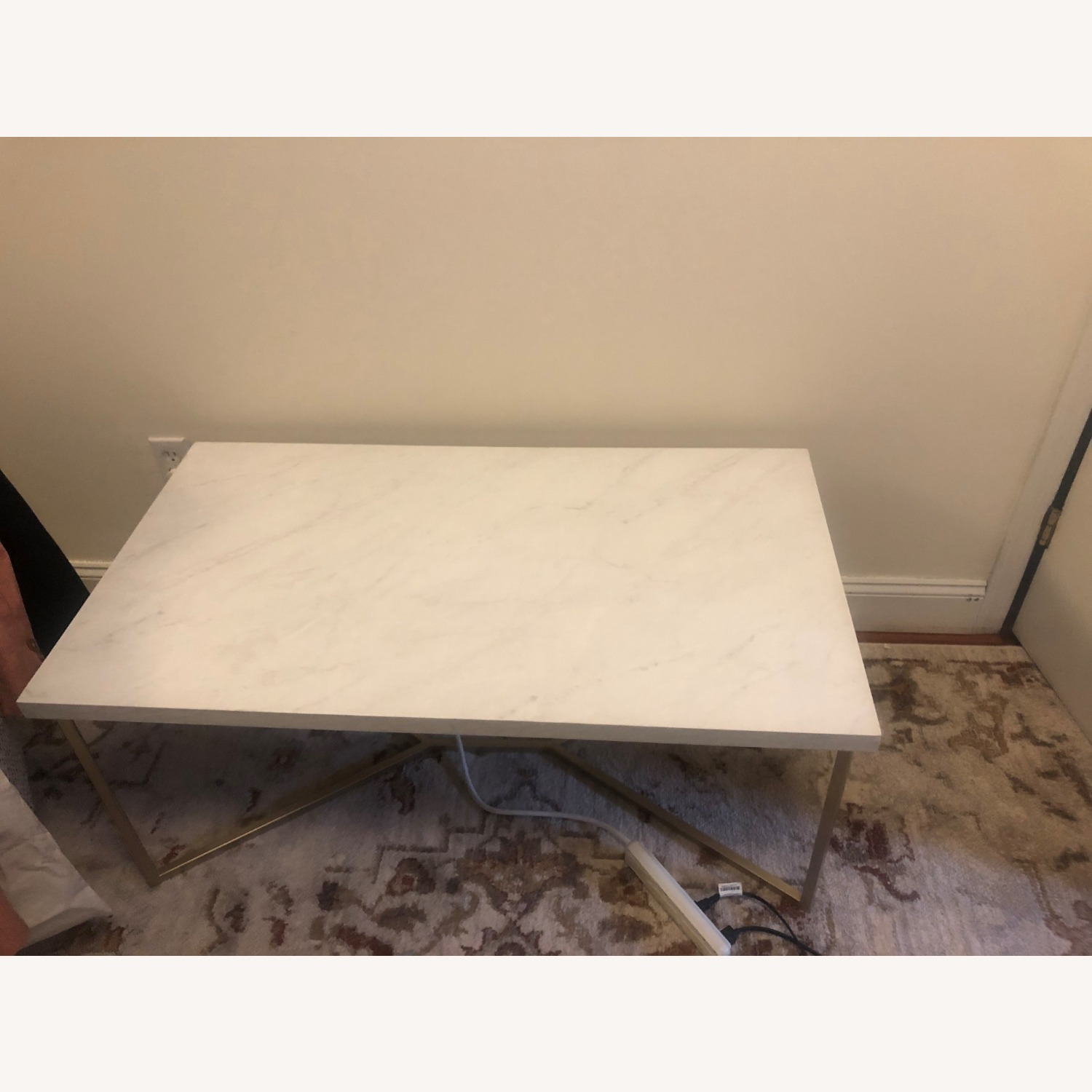 Wayfair Faux White Marble Coffee Table - image-3