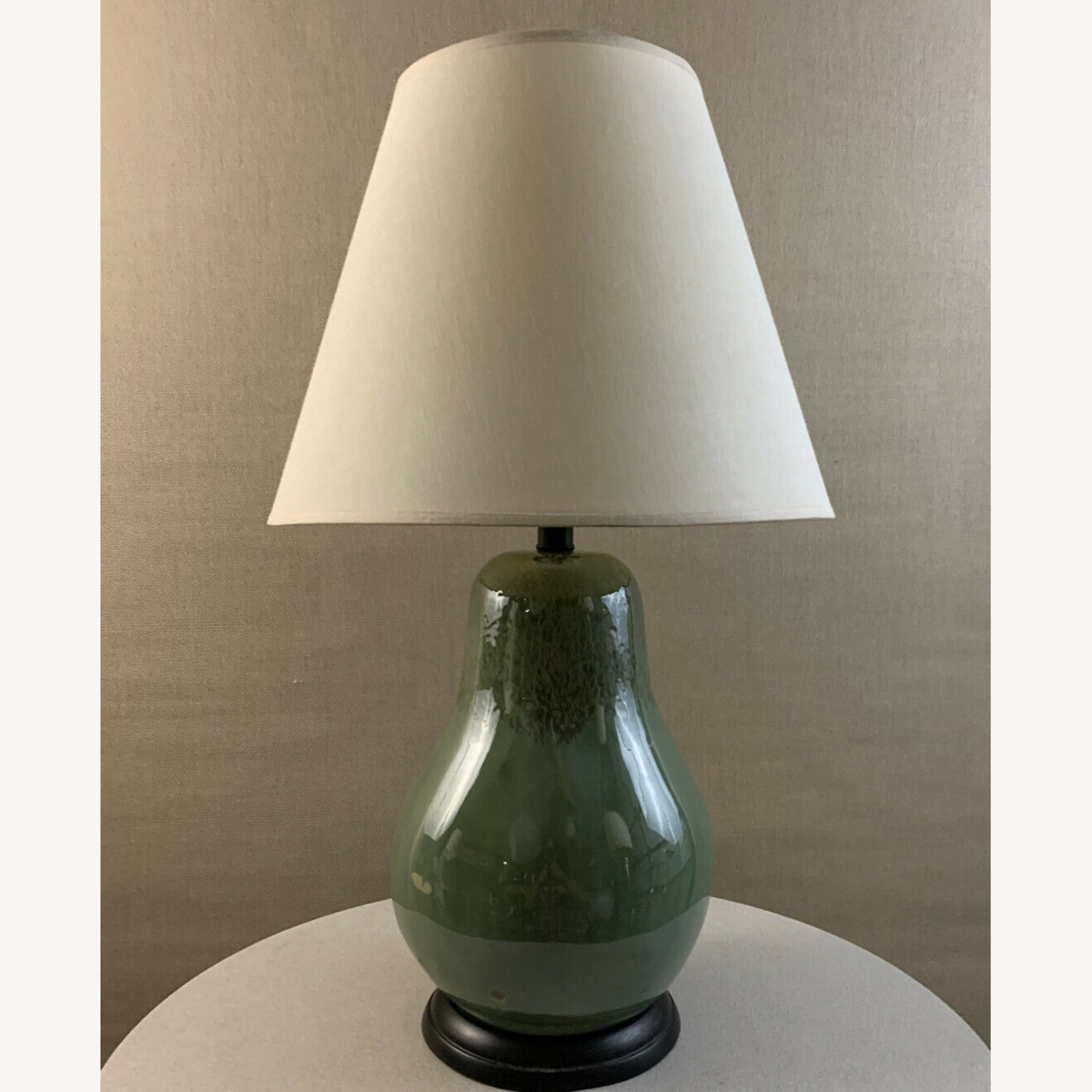 Vintage Contemporary Drip Glazed Pear Lamp - image-1