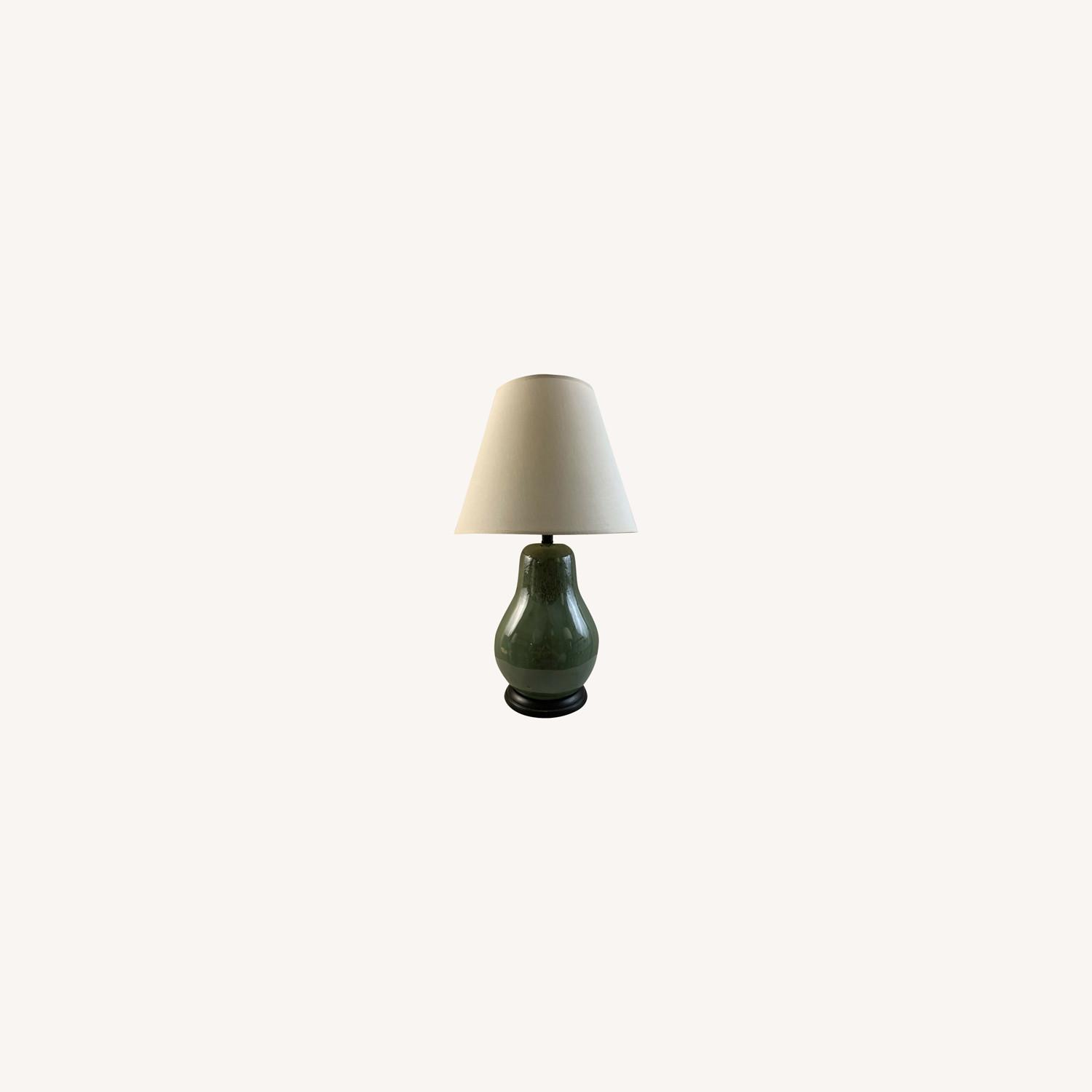 Vintage Contemporary Drip Glazed Pear Lamp - image-0