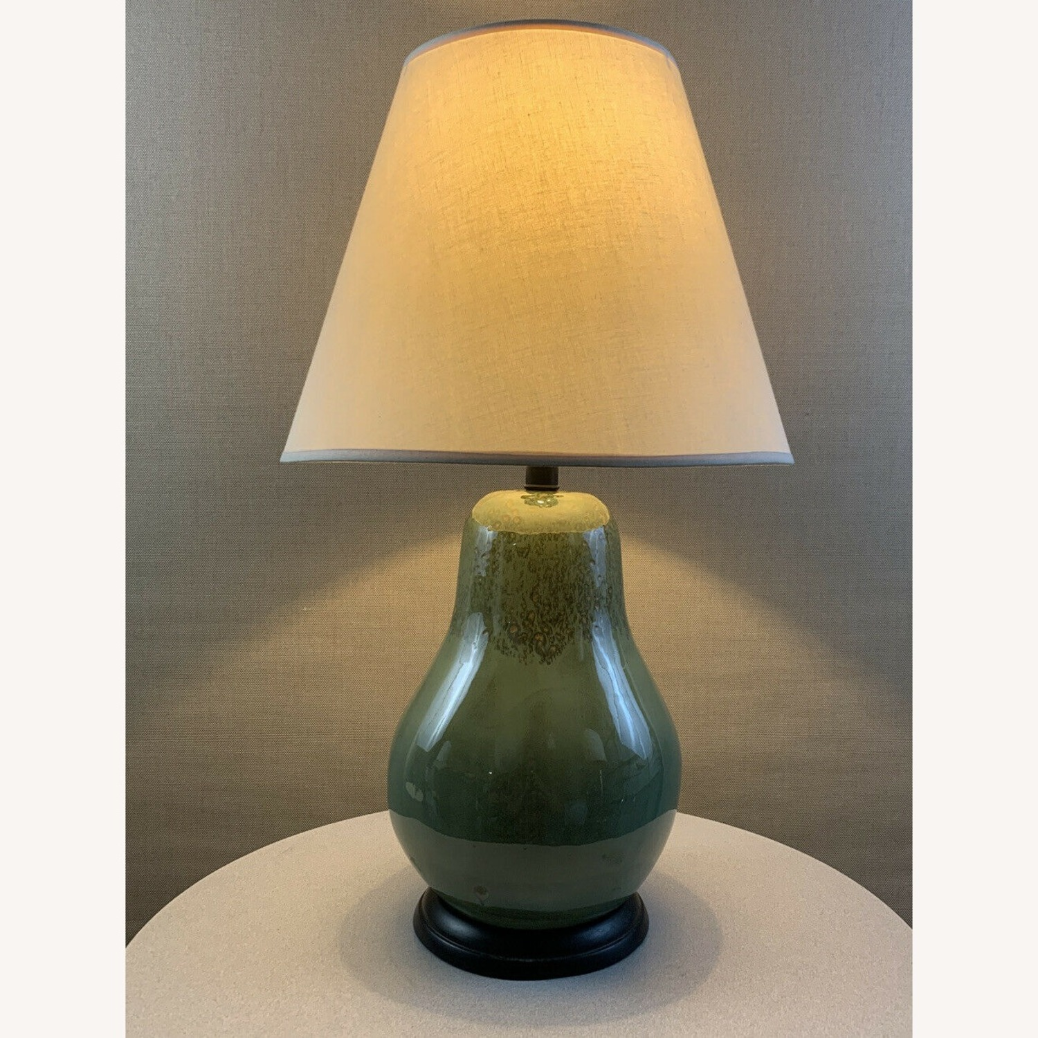 Vintage Contemporary Drip Glazed Pear Lamp - image-3