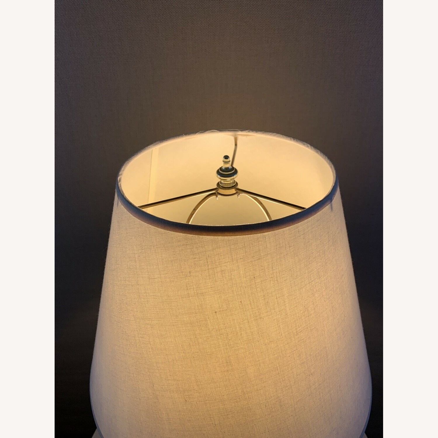 Vintage Contemporary Drip Glazed Pear Lamp - image-5