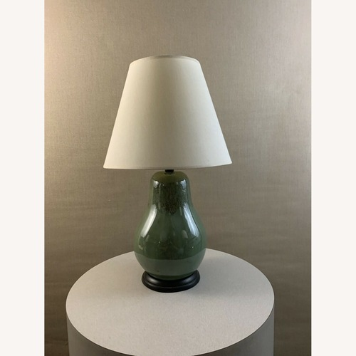 Used Vintage Contemporary Drip Glazed Pear Lamp for sale on AptDeco