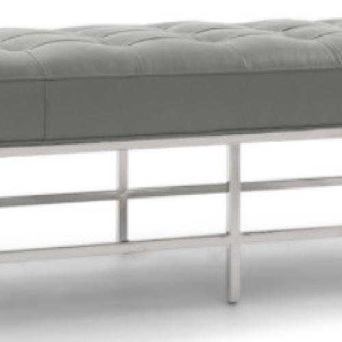 Used Mitchell Gold + Bob Williams Leather Bench Ottoman for sale on AptDeco