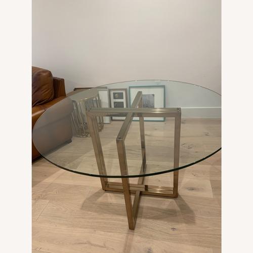 Used CB2 Silverado Glass Table for sale on AptDeco