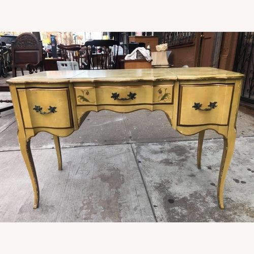 Used Antique 1930s Mahogany Vanity Table w/Mirror  for sale on AptDeco