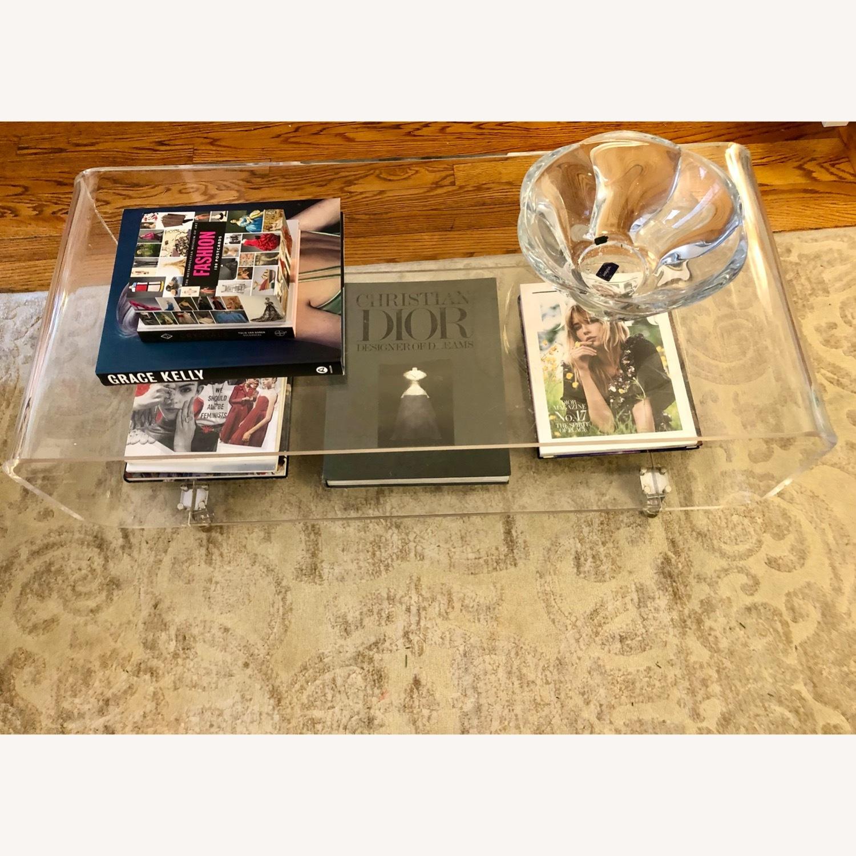 CB2 Peekaboo Acrylic Table on Wheels - image-4