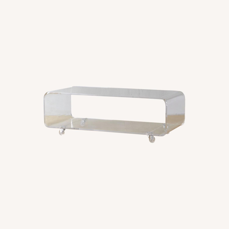 CB2 Peekaboo Acrylic Table on Wheels - image-0