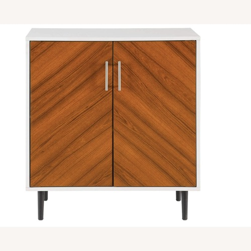 Used Mid Century Modern White Storage Accent Cabinet  for sale on AptDeco