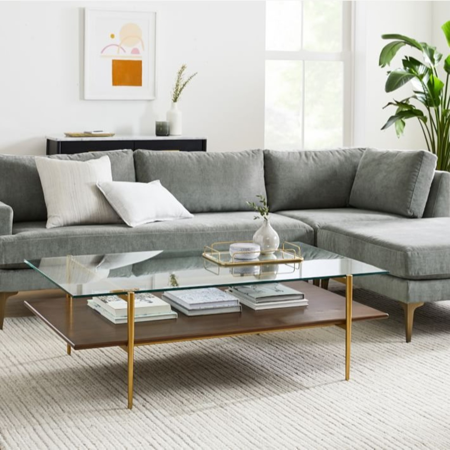 West Elm Art Display Coffee Table - image-1