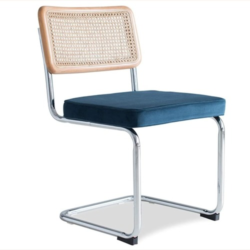 Used Mid Century Modern Blue Dining Chair Set of 2 for sale on AptDeco