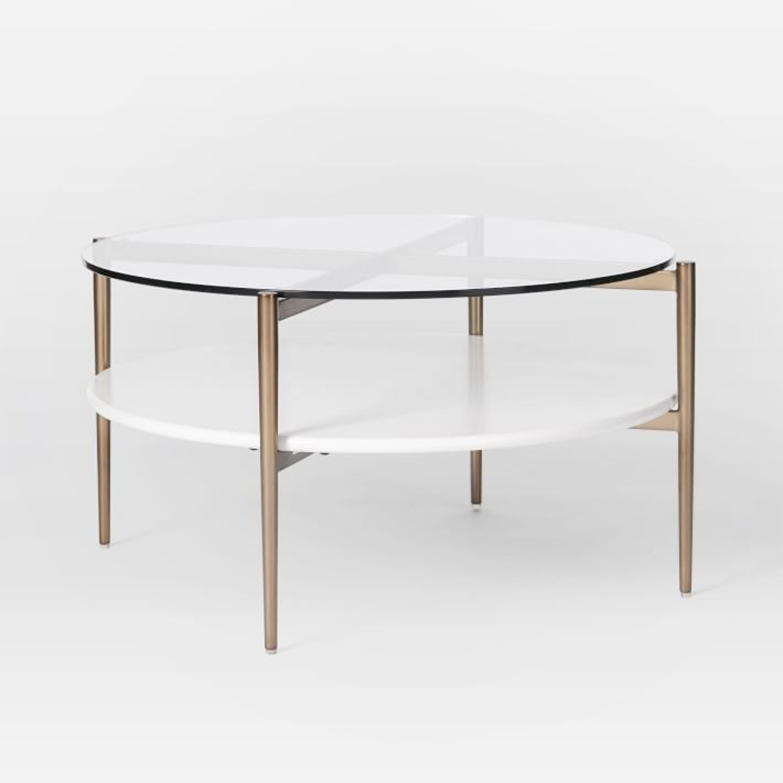 West Elm Art Display Round Coffee Table - image-2