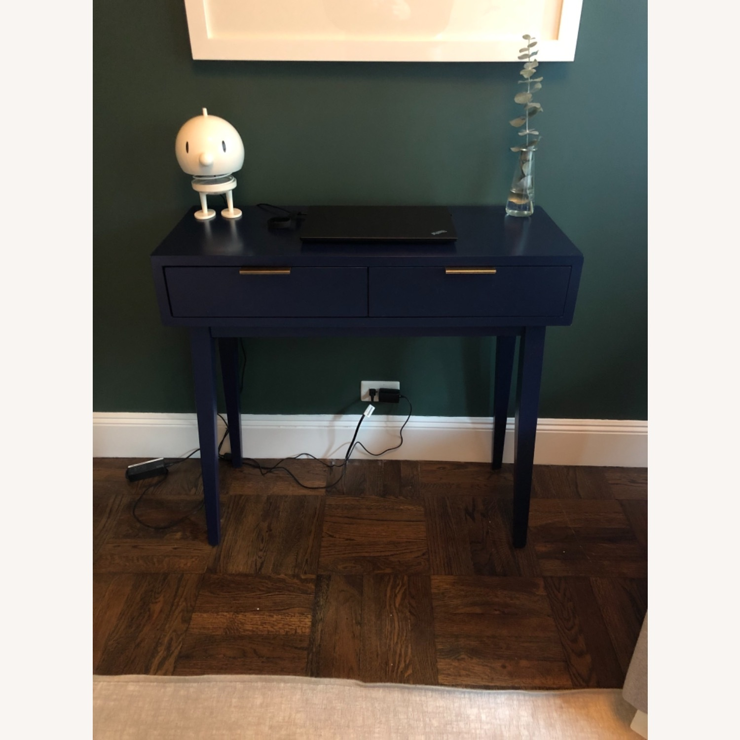 Target Blue Two Drawer Console Table - image-4