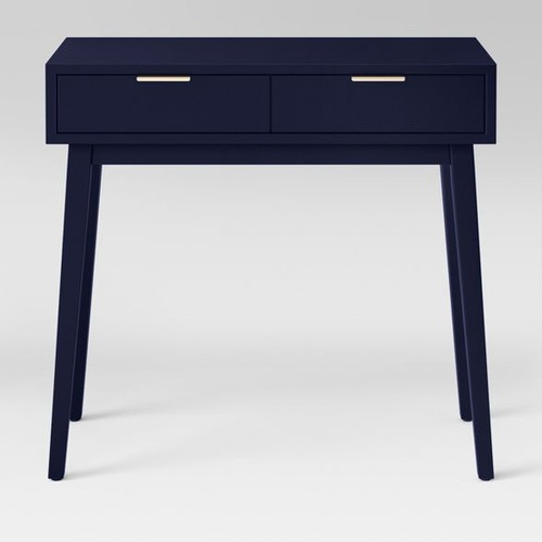 Used Target Blue Two Drawer Console Table for sale on AptDeco
